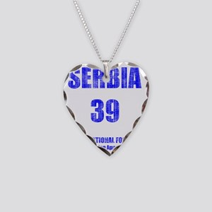 Serbia football vintage Necklace Heart Charm