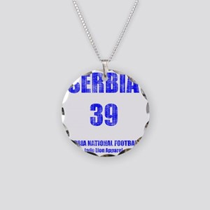 Serbia football vintage Necklace Circle Charm