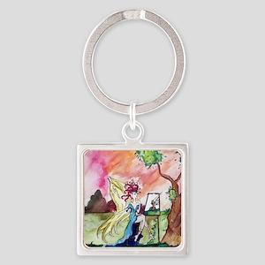 Fairy Land 22 Square Keychain
