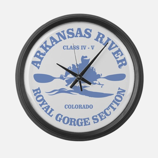 Arkansas River (Royal Gorge) Large Wall Clock
