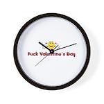 Fuck Valentine's Day Wall Clock