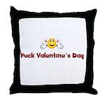 Fuck Valentine's Day Throw Pillow