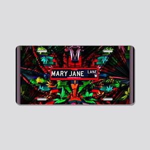 Mary Jane Lane Aluminum License Plate