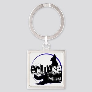 eclipse big wolf copy Square Keychain