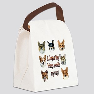 A Corgi a Day Brings a Smile Canvas Lunch Bag