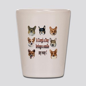 A Corgi a Day Brings a Smile Shot Glass