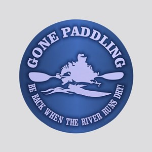 """Gone Paddling 3 3.5"""" Button"""