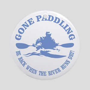 Gone Paddling 3 Ornament (Round)