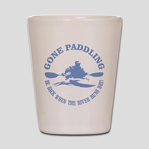 Gone Paddling 3 Shot Glass