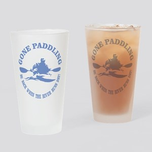 Gone Paddling 3 Drinking Glass