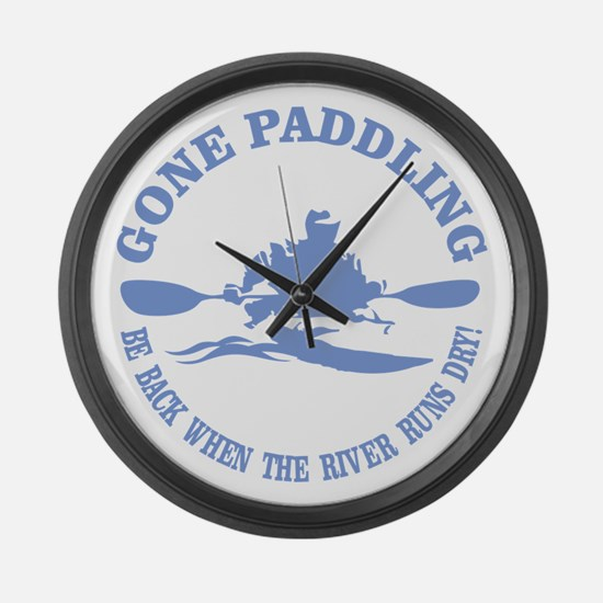 Gone Paddling 3 Large Wall Clock
