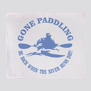 Gone Paddling 3 Throw Blanket
