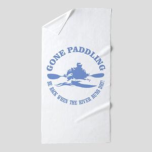 Gone Paddling 3 Beach Towel