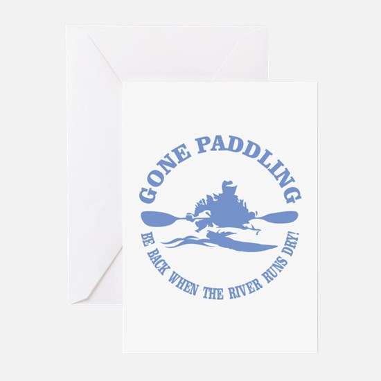 Gone Paddling 3 Greeting Cards