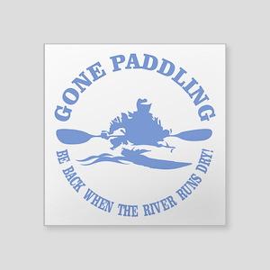Gone Paddling 3 Sticker