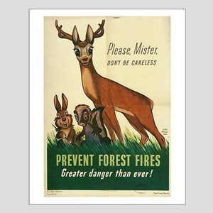1943 Prevent Forest Fires Poster Small Poster