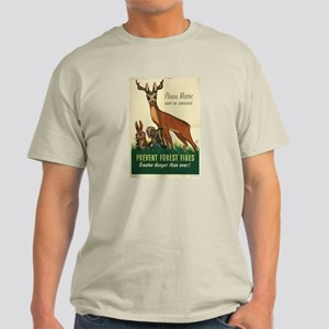 1943 Prevent Forest Fires Poster Ash Grey T-Shirt