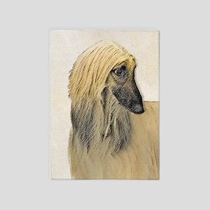 Afghan Hound 5'x7'Area Rug