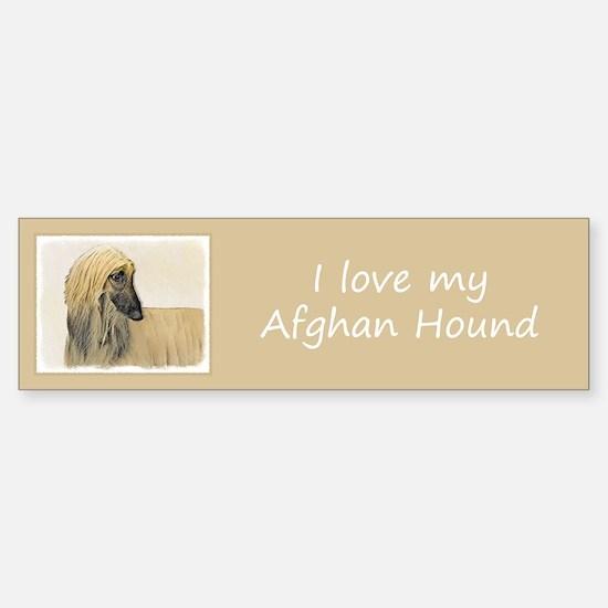 Afghan Hound Sticker (Bumper)
