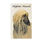 Afghan Hound Sticker (Rectangle)
