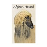 Afghan Hound Sticker (Rectangle 50 pk)