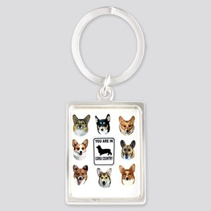 You Are In  Corgi Country Portrait Keychain