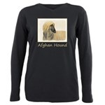 Afghan Hound Plus Size Long Sleeve Tee