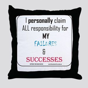 Personal Responsibility Throw Pillow