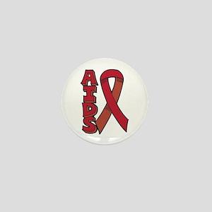 AIDS Ribbon Logo Mini Button
