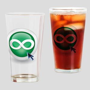 6x6_pocket_WHITE Drinking Glass