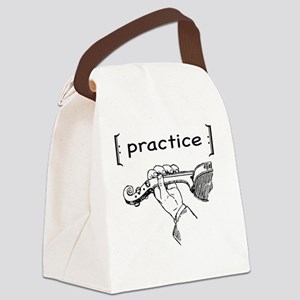Practice Violin Canvas Lunch Bag