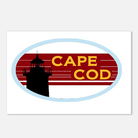 2-cape-cod-nauset-sticker Postcards (Package of 8)