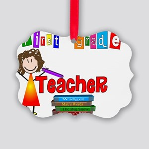 First Grade Teacher Picture Ornament