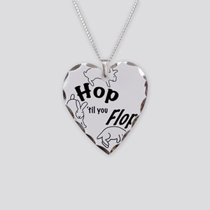 HopTilYouFlopShirt-CafePress Necklace Heart Charm