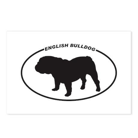 English-Bulldog Postcards (Package of 8)
