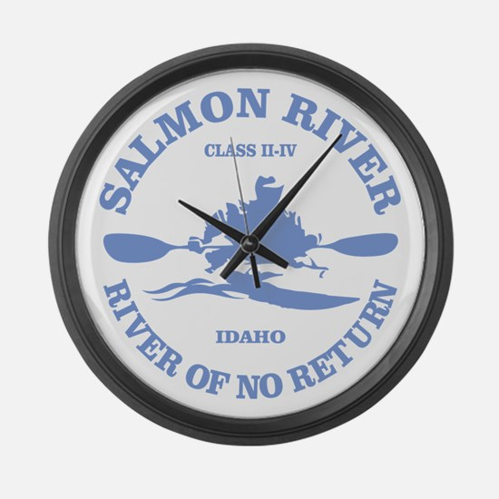 Salmon River (kayak) Large Wall Clock