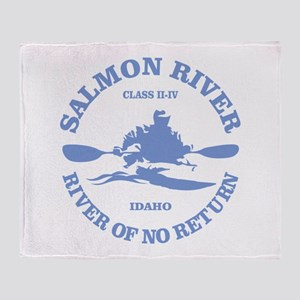 Salmon River (kayak) Throw Blanket