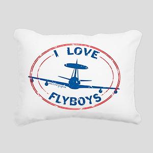 flyboys-e3-redblue Rectangular Canvas Pillow