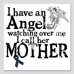 """mother angel Square Car Magnet 3"""" x 3"""""""