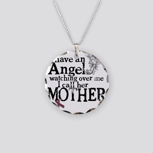 2-mother angel Necklace Circle Charm