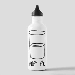 Half-Full-Black Stainless Water Bottle 1.0L