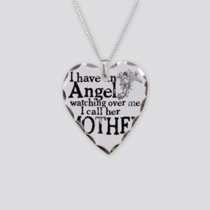 8-mother angel Necklace Heart Charm