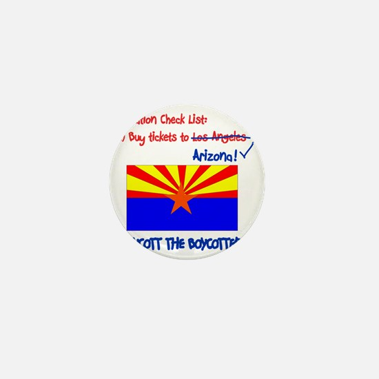 Arizona-Boycott the Boycotter 2c Mini Button