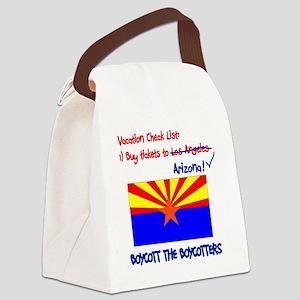 Arizona-Boycott the Boycotter 2c Canvas Lunch Bag