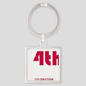 4thjulyshirtdarknodate Square Keychain