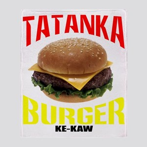 tatankaburger Throw Blanket