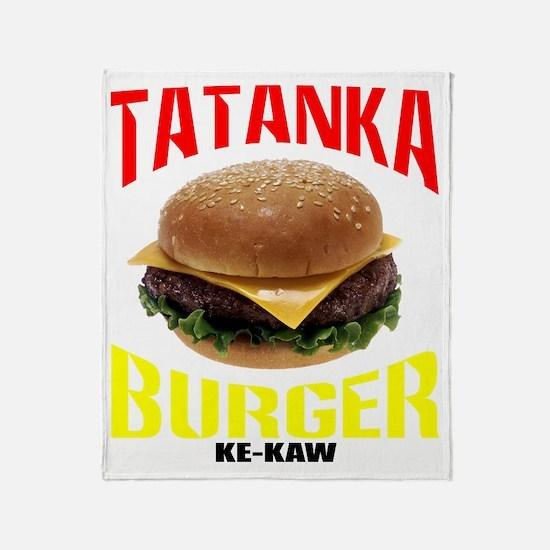 tatankaburger Throw Blanket