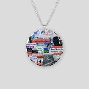 recovery13x13rwb Necklace Circle Charm