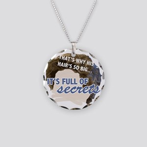Full of Secrets Necklace Circle Charm