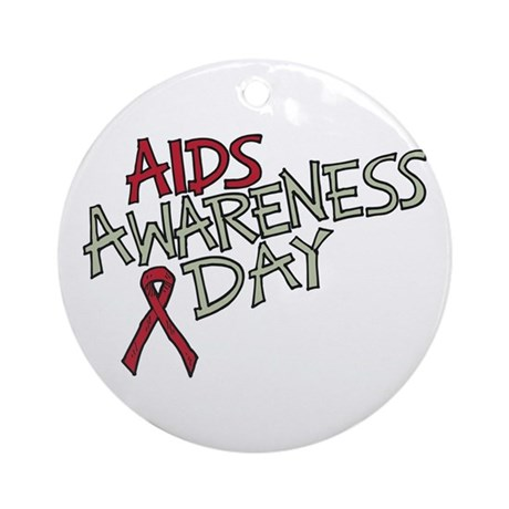 AIDS Awareness Day Ornament (Round)